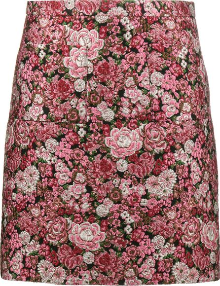 Adam Lippes mini floral brocade pencil skirt