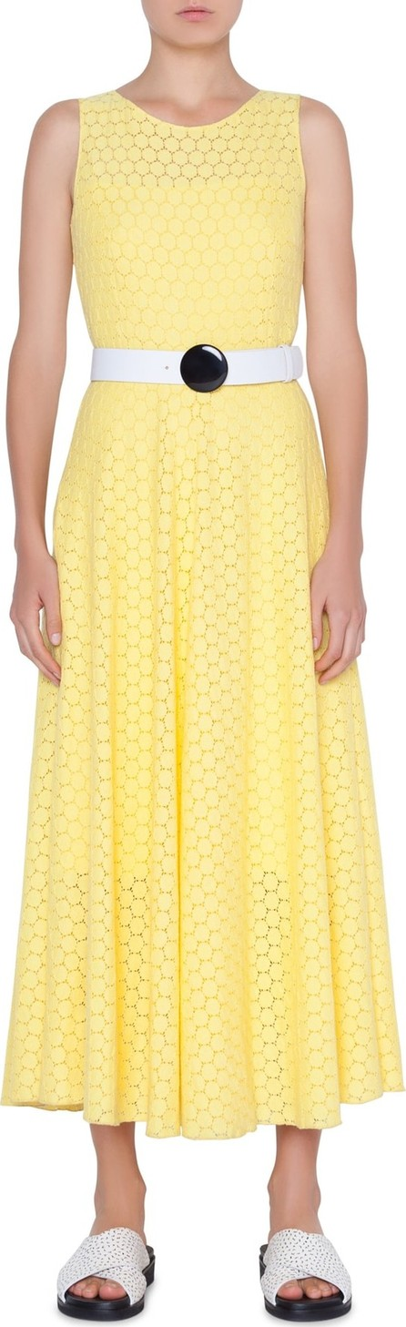 Akris Punto Belted Lace Dress