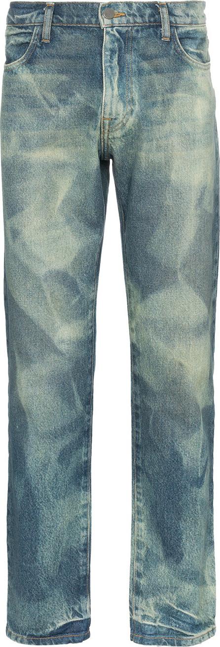 424 Fairfax X armes bleach treated jeans