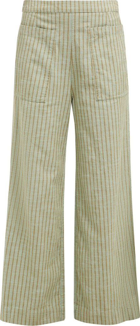ace&jig Laure striped wide-leg cotton trousers