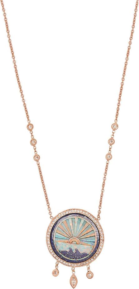 Jacquie Aiche Sunshine opal & diamond rose-gold necklace