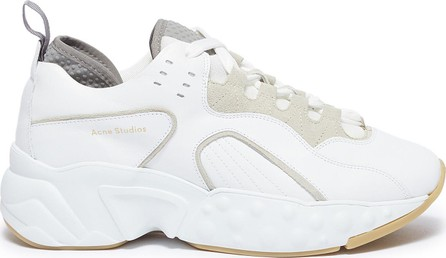 Acne Studios 'Manhattan' chunky outsole leather patchwork sneakers