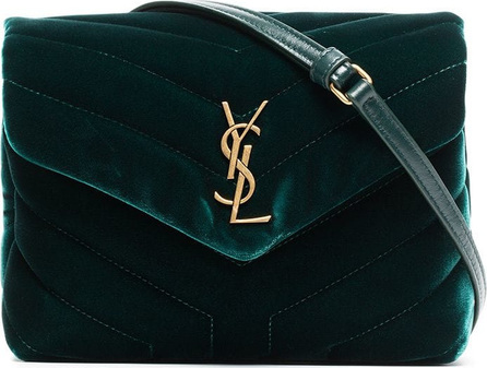 Saint Laurent Lou Lou quilted velvet shoulder bag
