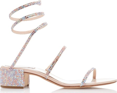Rene Caovilla Crystal-Embellished Satin Sandals