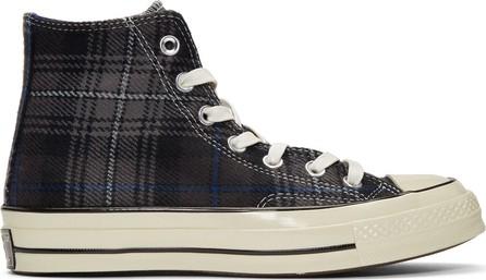 Converse Black Plaid Chuck Taylor '70 High-Top Sneakers