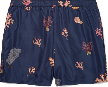 Acne Studios Slim-Fit Mid-Length Printed Swim Shorts
