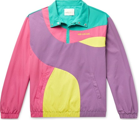 Aimé Leon Dore Logo-Embroidered Colour-Block Nylon Half-Zip Jacket