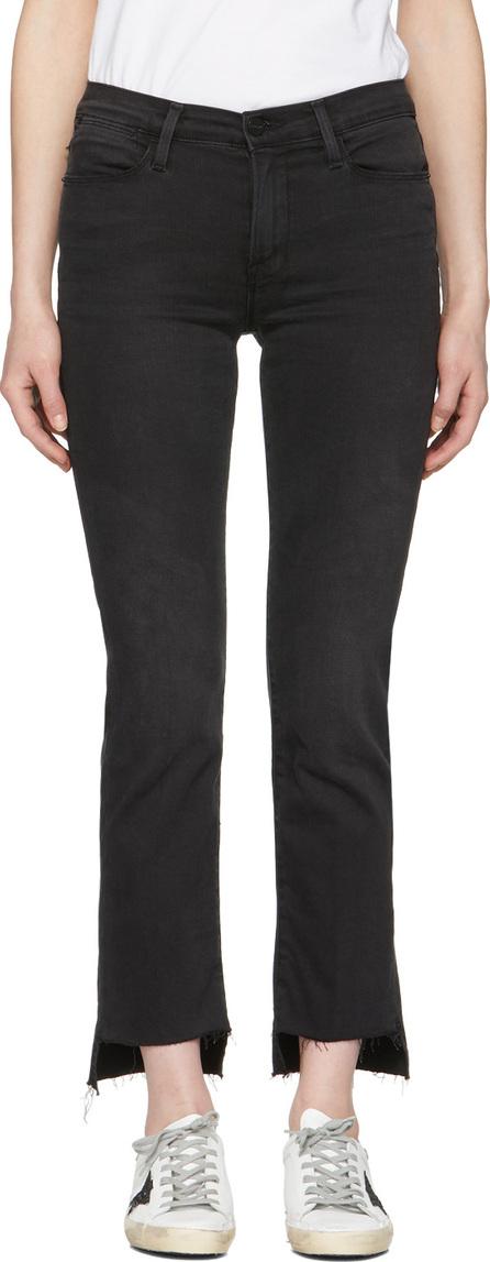 FRAME DENIM Black 'Le High Straight' Jeans