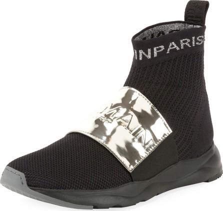 Balmain Men's Cameron Knit Logo-Strap Running Sock Sneakers
