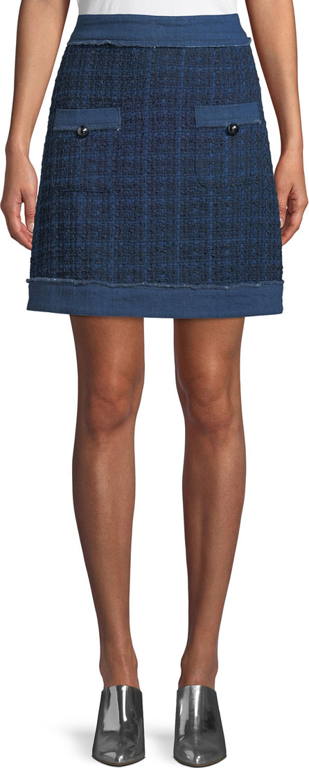 Kate Spade New York denim tweed mini skirt