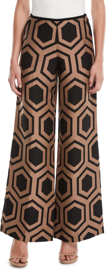 Trina Turk Kern 2 Wide-Leg Pants in Geometric Print