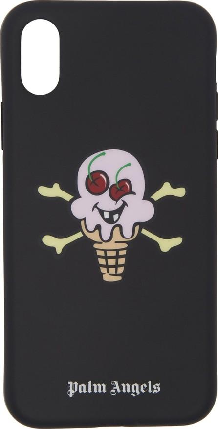 Palm Angels Black ICECREAM Edition iPhone X Case
