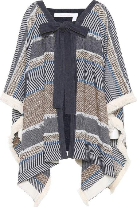 See By Chloé Cotton-blend poncho