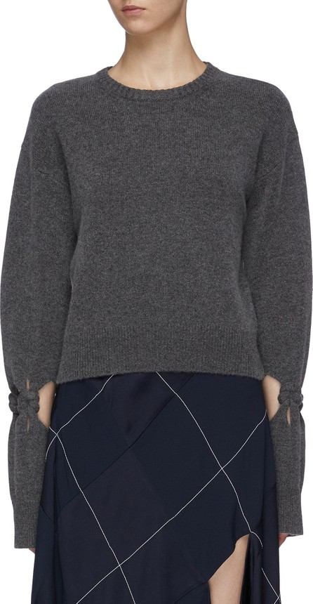 Dion Lee Knot cutout sleeve wool-cashmere sweater