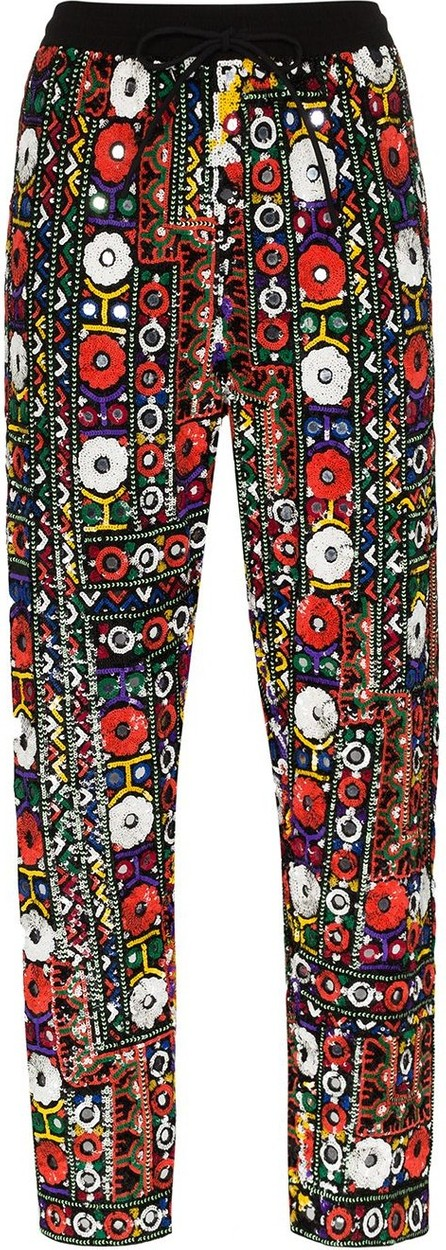 ASHISH Tapered sequinned trousers