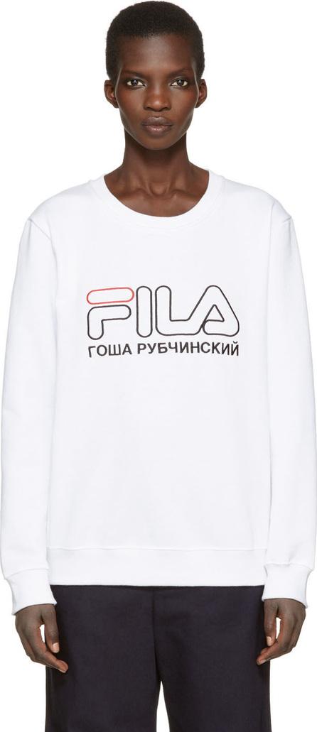 Gosha Rubchinskiy White Fila Edition Pullover