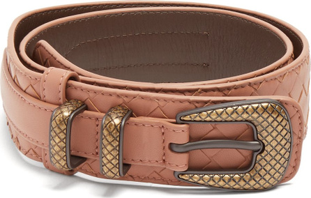 Bottega Veneta Layered intrecciato leather belt