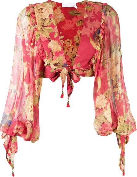 Zimmermann Floral draped blouse