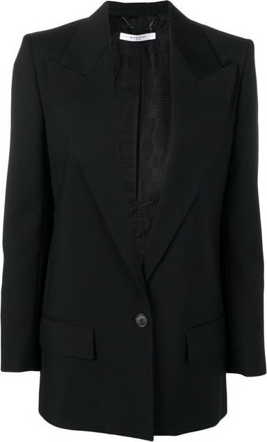 Givenchy Single Breasted Wool Tailored Jacket