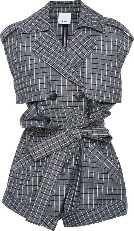 Acler Veron Gathered Mini Romper