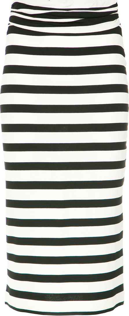 Andrea Marques Striped slim skirt