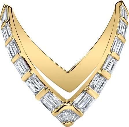 Anita Ko 18k Gold Baguette Diamond V Ring, Size 7