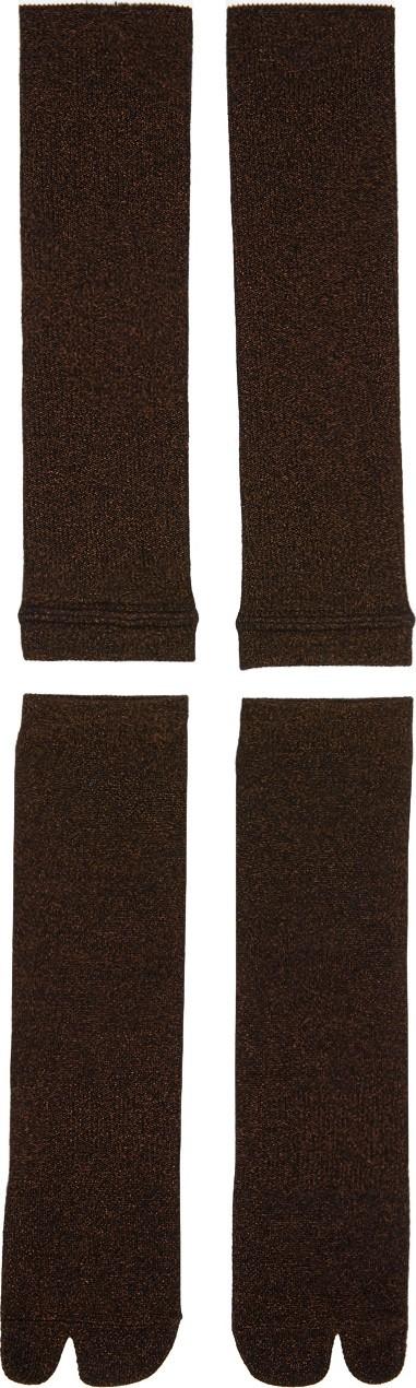 Goodfight Brown Two-Piece Tabi Socks