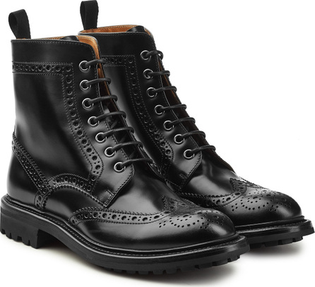 Church'S Leather Ankle Boots with Brogue Detailing