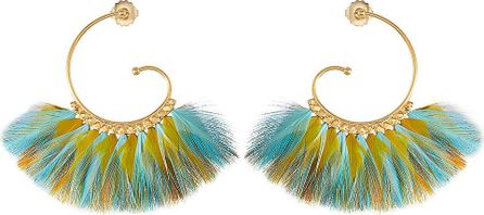 GAS Bijoux Buzios 24kt Gold-Plated Earrings with Feathers