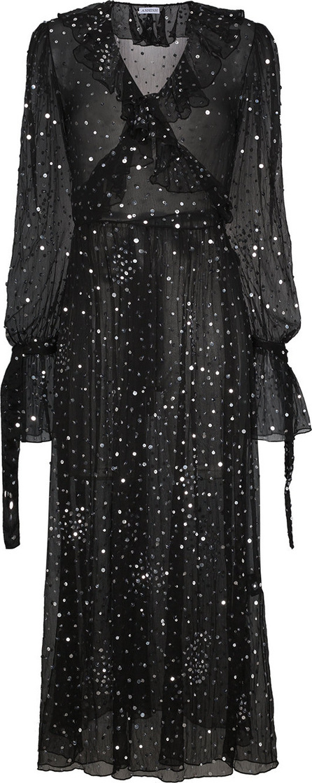 ASHISH Ruffled Sequinned Wrap Dress