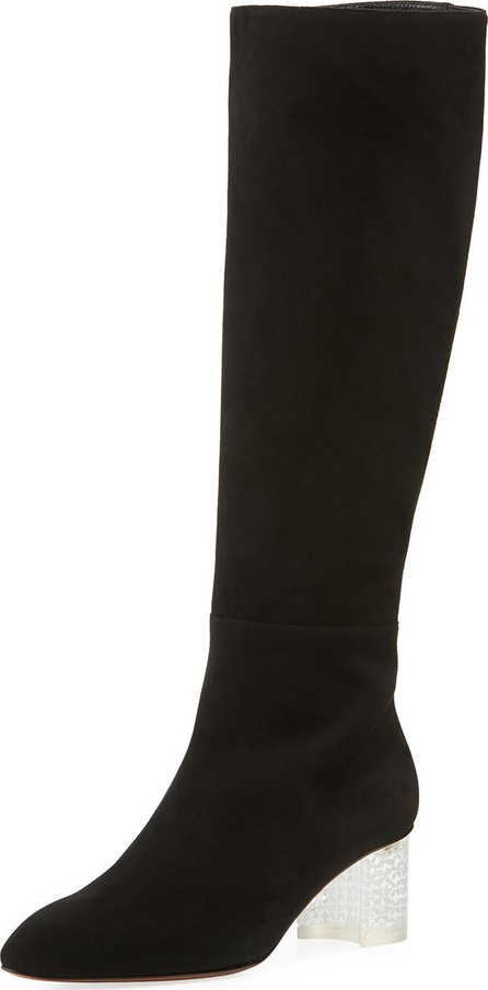 Alaïa Suede Knee-High Boots