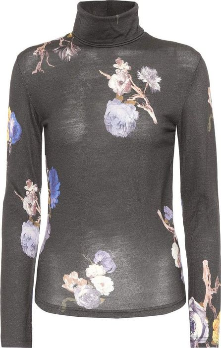 Acne Studios Cleo floral wool top