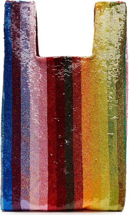 ASHISH Striped sequin-embellished bag