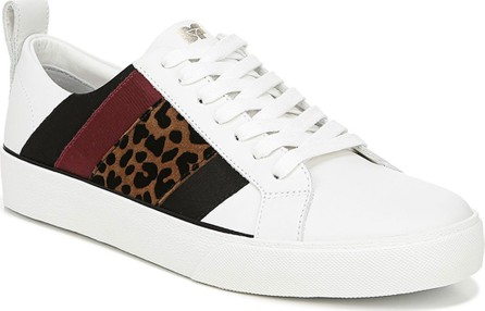 DIANE von FURSTENBERG Tess Leather Striped Sneakers