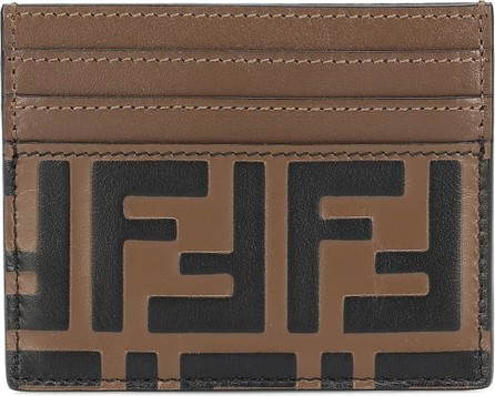 Fendi FF leather card holder