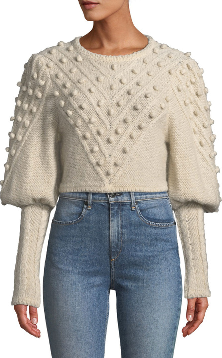 Zimmermann Fleeting Bauble Cropped Sweater