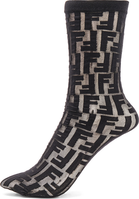 Fendi Logo Print Nylon Socks