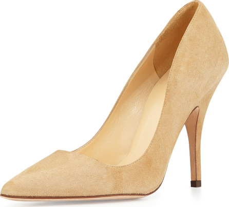 Kate Spade New York licorice suede point-toe pumps, light camel