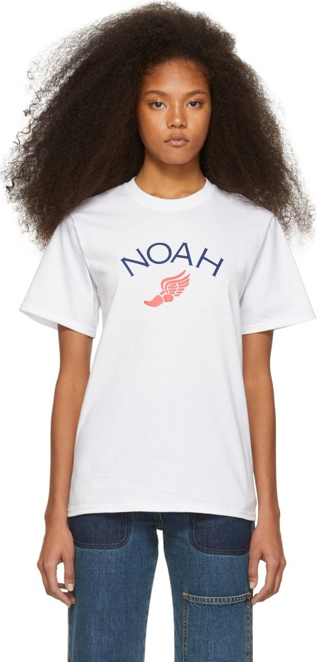 Noah NYC White Winged Foot T-Shirt