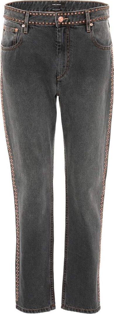 Isabel Marant Netiff studded cropped jeans
