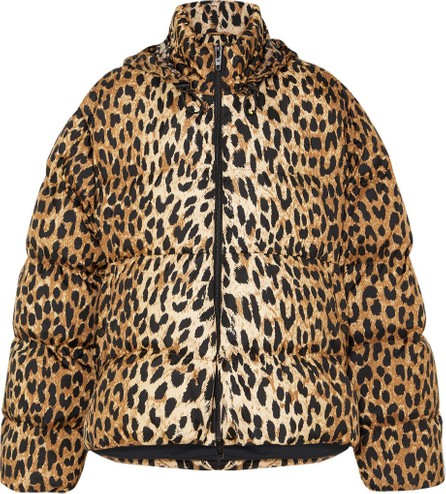 Balenciaga C-Shape hooded leopard-print quilted shell jacket