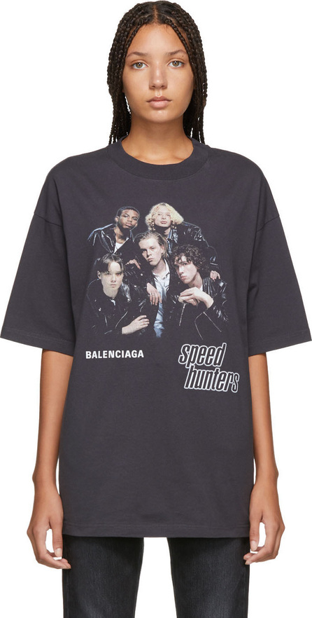 Balenciaga Black 'Speed Hunters' T-Shirt