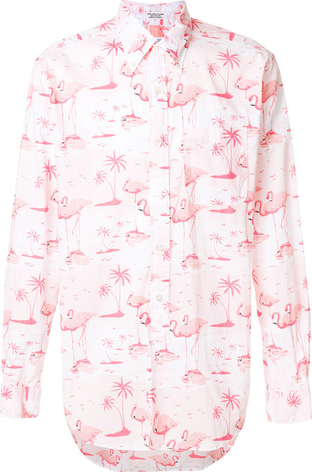 Engineered Garments Flamingo print shirt