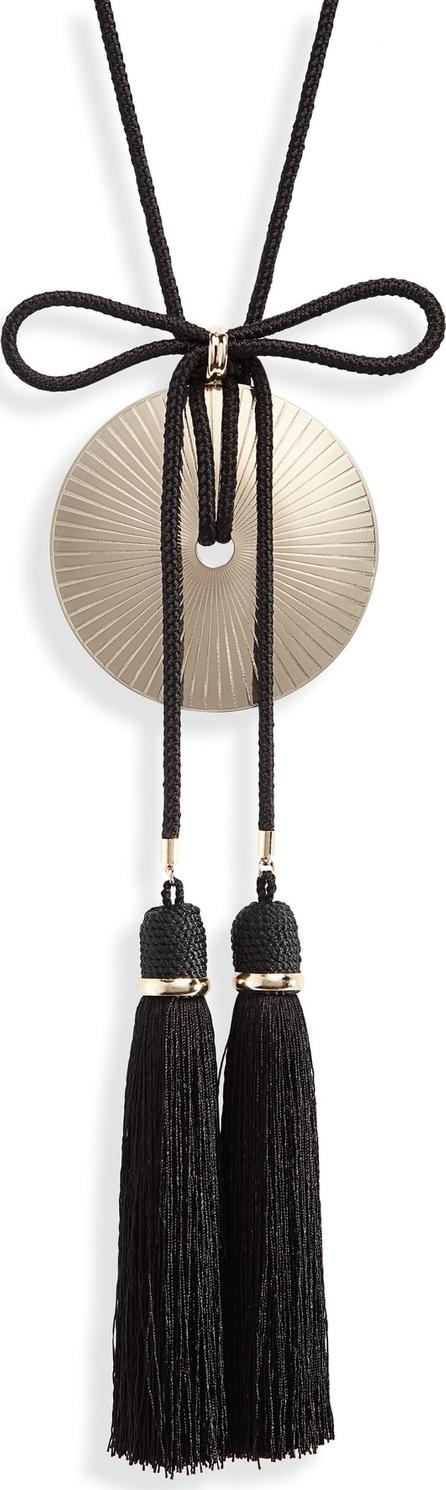 Saint Laurent Loulou Tassel Fringe Pendant Necklace