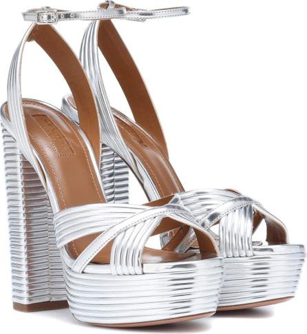 Aquazzura Metallic leather sandals