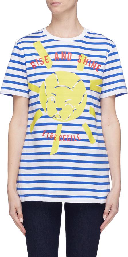 Etre Cecile 'Rise and Shine' graphic slogan print stripe T-shirt