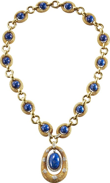 Hays Worthington 18K Yellow Gold & Lapis Sautoir Necklace with Diamonds