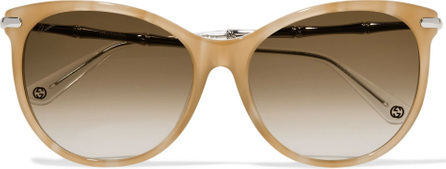Gucci Cat-eye acetate and metal sunglasses