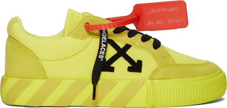 Off White SSENSE Exclusive Yellow Low Vulcanized Sneakers