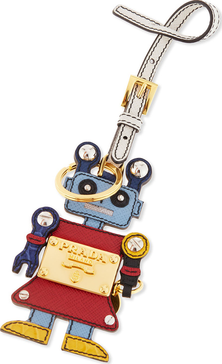 Prada Girl Robot Charm, Red/Light Blue (Fuoco/Astrale)